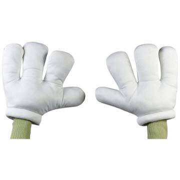 Adult Oversized Cartoon Hands Costume Gloves, Adult Unisex, White