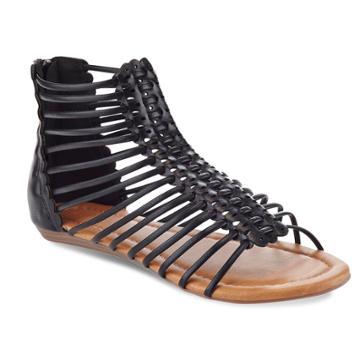 Henry Ferrera Kiko Bar Women's Sandals, Size: 8.5, Black
