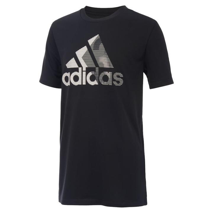 Boys 8-20 Adidas Logo Graphic Tee, Size: Xl, Black