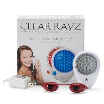 Quasar Clear Rayz Red & Blue Light Acne Treatment Device, White