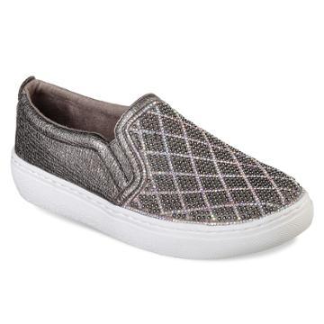 Skechers Street Goldie Diamond Darling Women's Sneakers, Size: 9.5, Light Grey