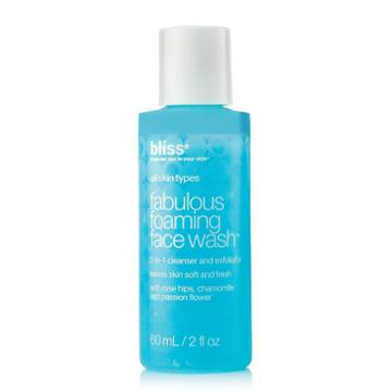 Bliss Fabulous Foaming Face Wash - Travel Size, Multicolor