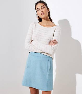 Loft Wooly Pocket Shift Skirt