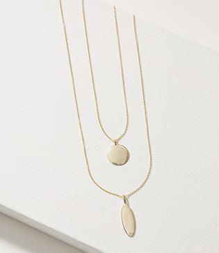 Loft Gilded Pendant Layering Necklace Set