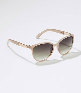 Loft Iridescent Bar Cateye Sunglasses