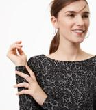 Loft Lace Jacquard Long Sleeve Tee