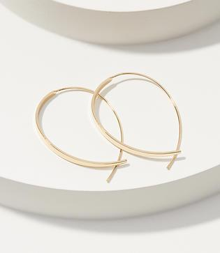 Loft Linear Sculptural Hoop Earrings