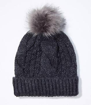 Loft Cable Pom Pom Hat