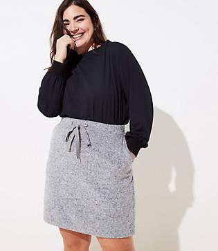 Loft Plus Brushed Knit Jogger Skirt