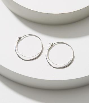 Loft Small Modern Hoop Earrings