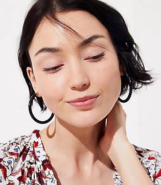 Loft Marbleized Hoop Earrings