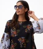 Loft Metallic Hinge Oversized Sunglasses
