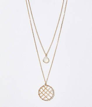 Loft Stone Lattice Pendant Necklace Set