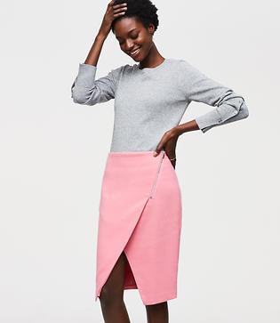 Loft Zip Wrap Pencil Skirt