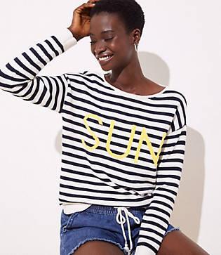 Loft Sun Stripe Sweater