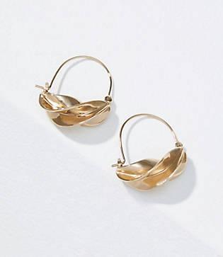 Loft Twisted Hoop Earrings