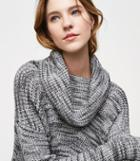 Loft Spacedye Cowl Tunic Sweater