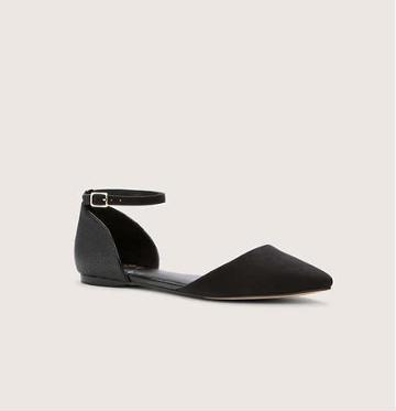 LOFT D'Orsay Ankle Strap Flats, Black