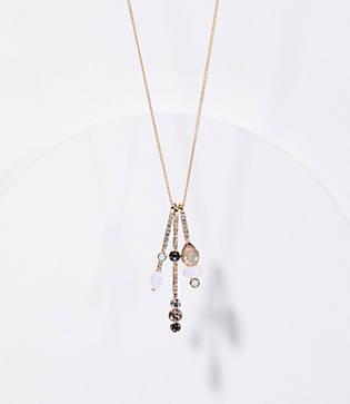 Loft Crystal Bar Pendant Necklace