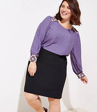 Loft Plus Pencil Skirt
