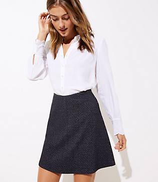 Loft Diamond Pull On Flippy Skirt