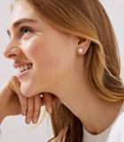 Loft Pearlized Pave Stud Earrings