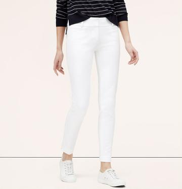 LOFT M Dense bistretch riviera crop pant, White