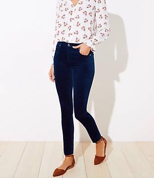 Loft Velvet Skinny Jeans