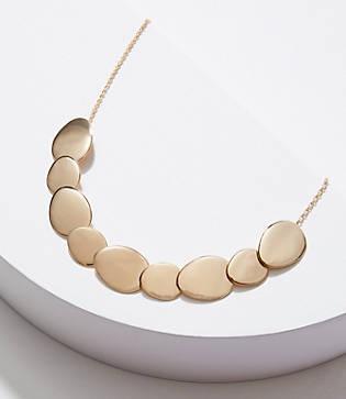 Loft Matte & Polished Disc Necklace