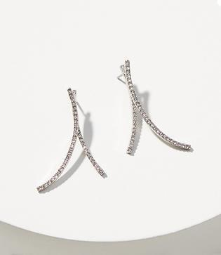 Loft Pave Curve Earrings