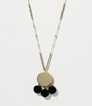 Loft Pom Pom Pendant Necklace