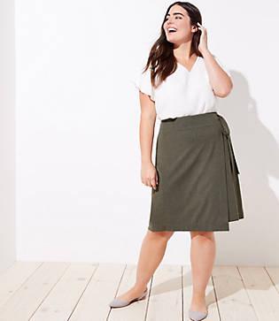 Loft Plus Wrap Skirt