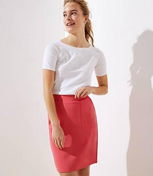 Loft Ponte Pull On Pocket Pencil Skirt