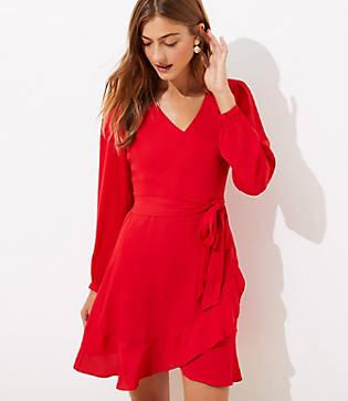 Loft Ruffle Wrap Skirt Dress