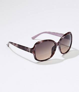 Loft Marbleized Square Sunglasses