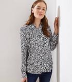 Loft Leopard Print Knit Blouse