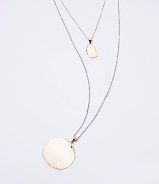 Loft Layered Hammered Pendant Necklace