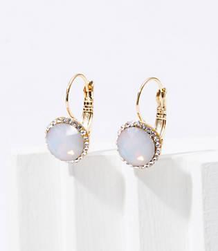 Loft Pave Stone Hinge Earrings