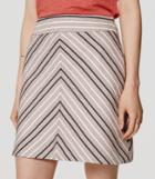 Loft Chevron Tweed Skirt