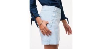 Loft Seersucker Sailor Riviera Shorts With 6 Inch Inseam