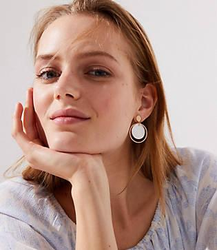 Loft Stone Circle Drop Earrings