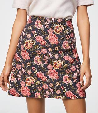 Loft Poppy Bloom Shift Skirt