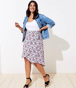 Loft Plus Garden Wrap Skirt