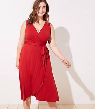 Loft Plus Midi Wrap Dress