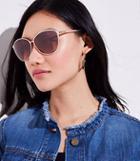 Loft Metallic Cateye Sunglasses