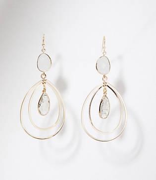 Loft Teardrop Stone Earrings