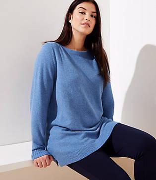 Loft Plus Boatneck Tunic Sweater