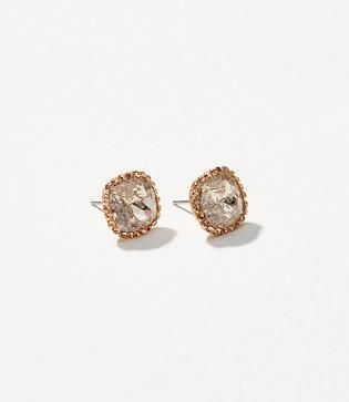 Loft Pave Square Stud Earrings