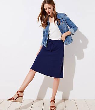 Loft Drawstring Full Skirt
