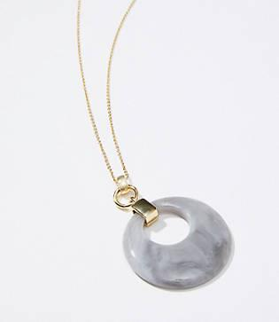 Loft Marbleized Ring Pendant Necklace